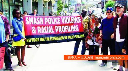 """多伦多警方""""欺负""""穷人 市民怒而示威抗议"""