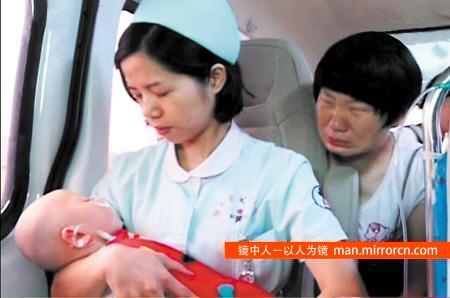 救护车抛锚 私家车接力护送重症患儿