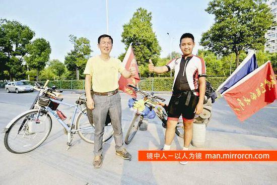 父亲陪厌学儿子骑行8000公里