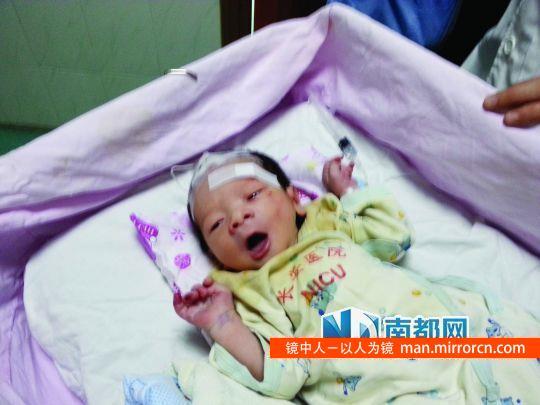 刚出生婴儿被弃臭水沟