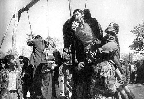 被塔利班处死的男子