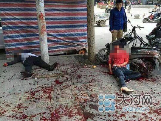 郑州一女子被当街割喉 嫌犯为其丈夫已被警方控制(组图)