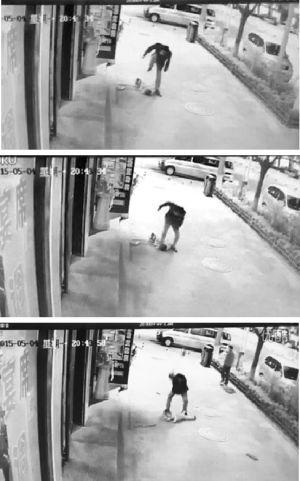 3岁男童遭路人当街飞踹暴打